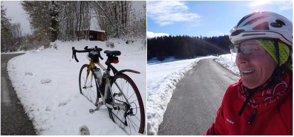 Rouler à vélo l'hiver