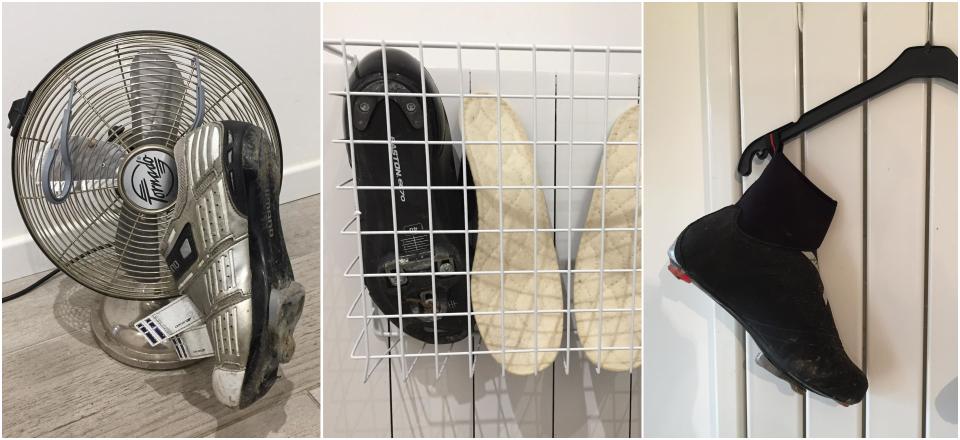 sécher chaussures vélo