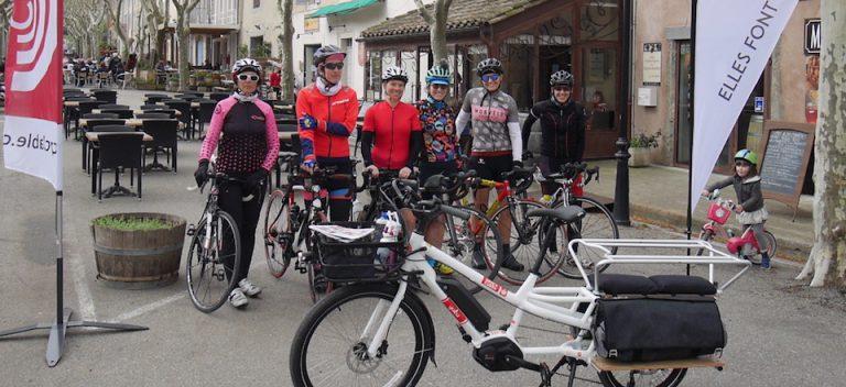 Vélo cargo long Yuba en test à Lagrasse