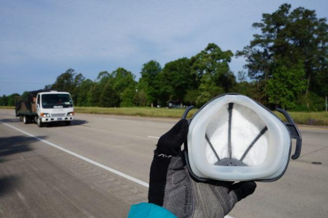 test de produit - masque anti-pollution - vélo urbain - la cyclonomade - elles font du vélo