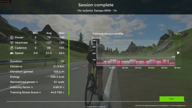 vélo virtuel par Vélizienne