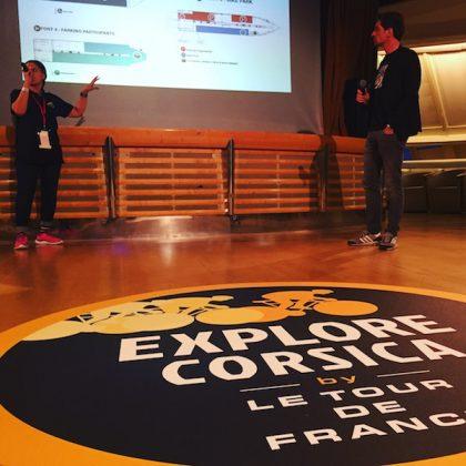 Vicky et Laurent de l'Explore Corsica Voiture balai