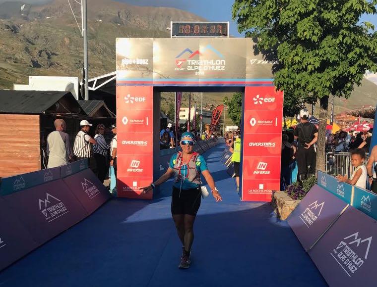 arrivée time triathlon L Alpe Huez