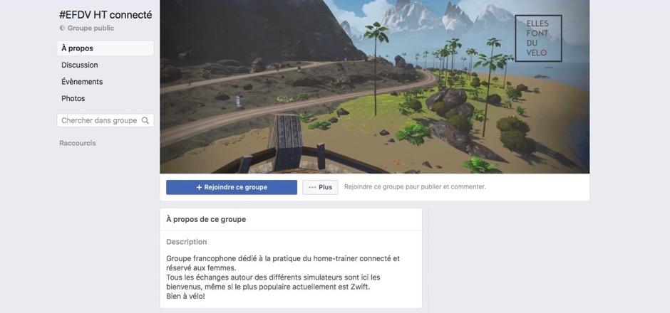 """Nouveau: groupe Facebook """"EFDV HT connecté""""."""