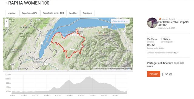 rapha ride women 100 carte