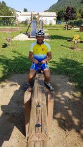 diagonale de franc à Deux à vélo