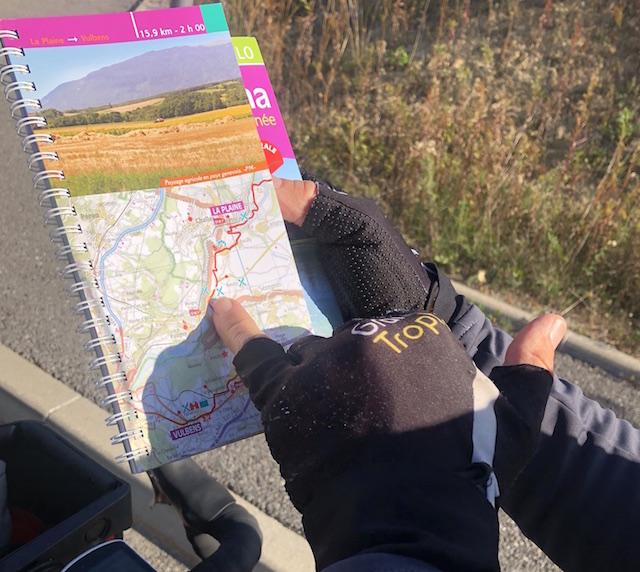 Voyage à vélo Fleur Skrivan Carte