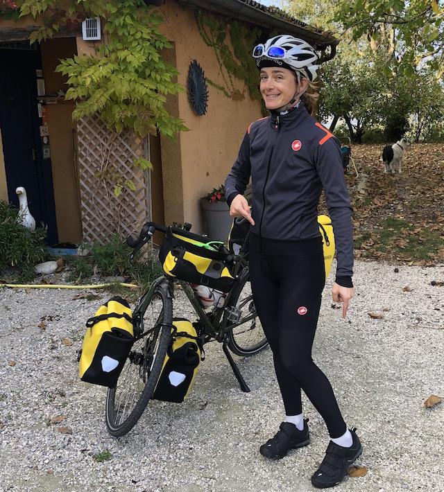 voyage à vélo Fleur Skrivan