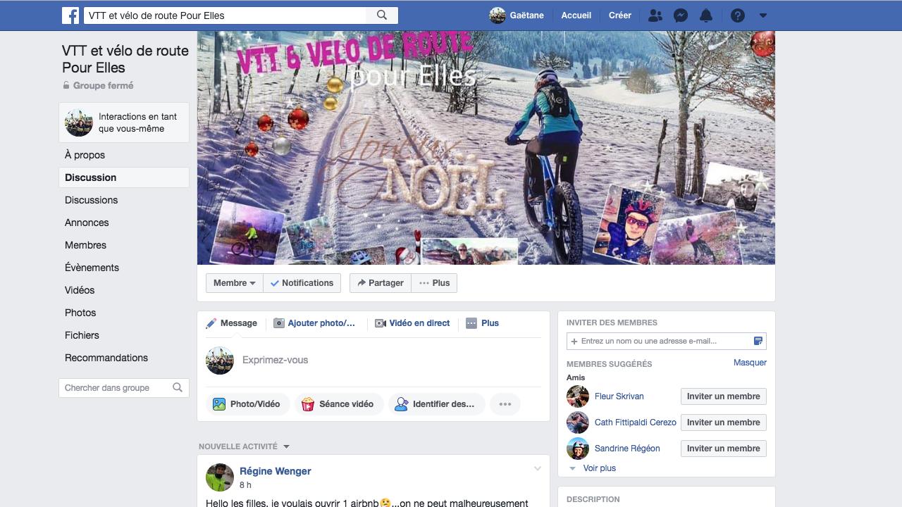 Histoire du groupe Facebook « VTT et vélo de route pour Elles »