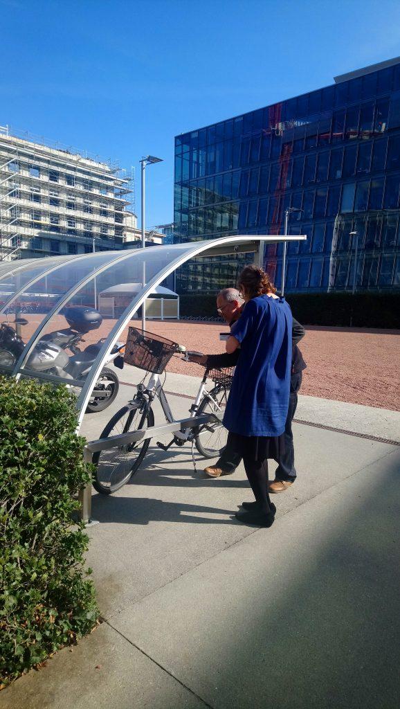 atelier mobile d'entretien de vélo