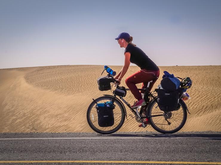 frederika ek - tour du monde à vélo - cyclotourisme au féminin - femme cycliste