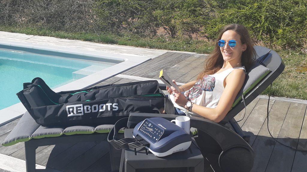 Test Reboots recovery pour sportives et sportifs. Ce n'est pas Anne Haug sur la photo!