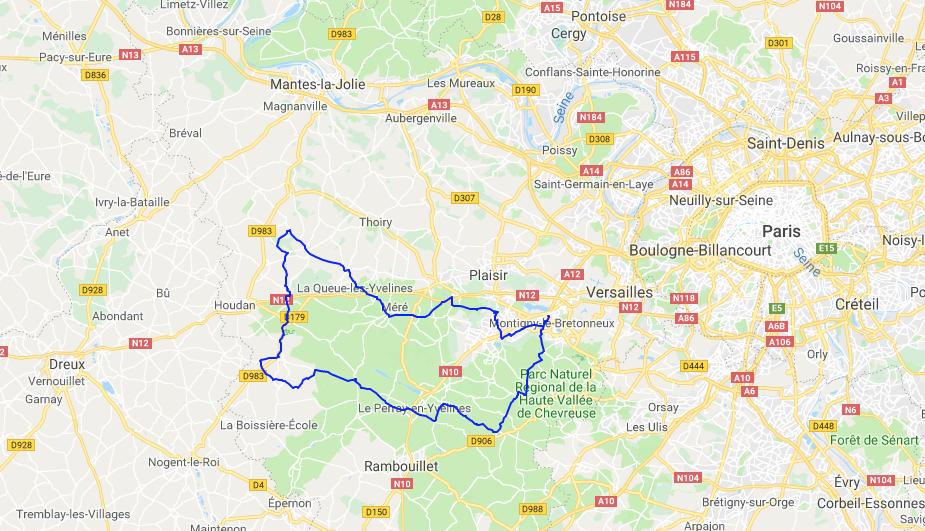 petit parcours 100 km sur la monticyclo 2019