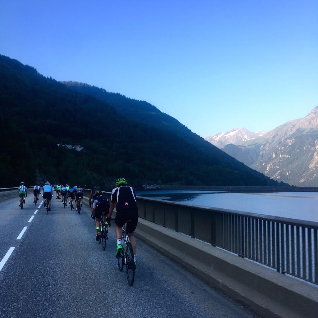 La Vaujany départ vers l'Alpe d'Huez