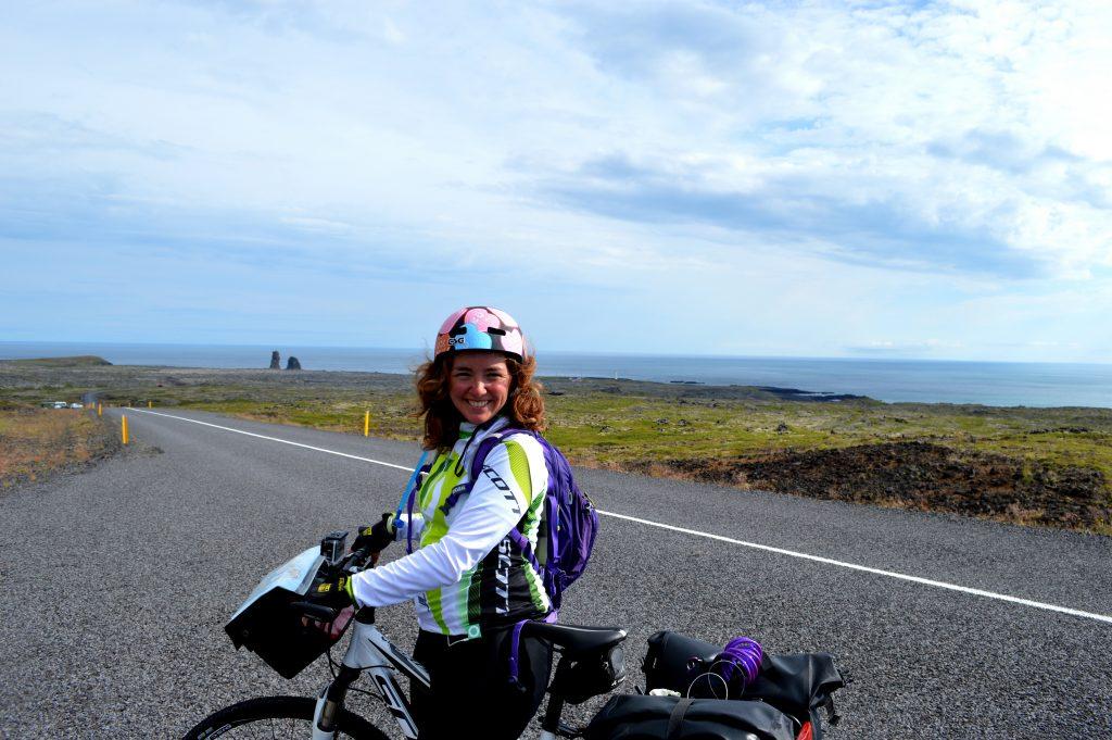 Moi et ma monture lors de mon voyage à vélo en 2013.