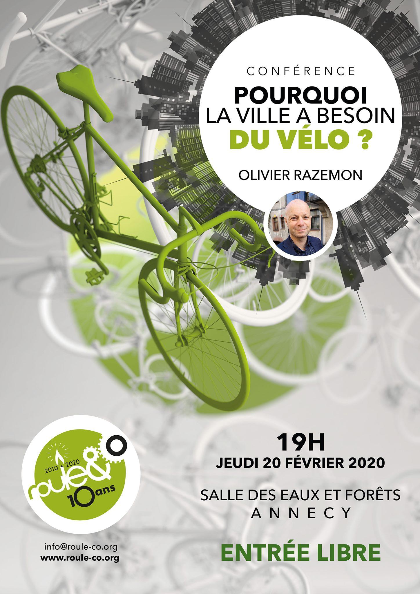 la ville à vélo, conférence à Annecy