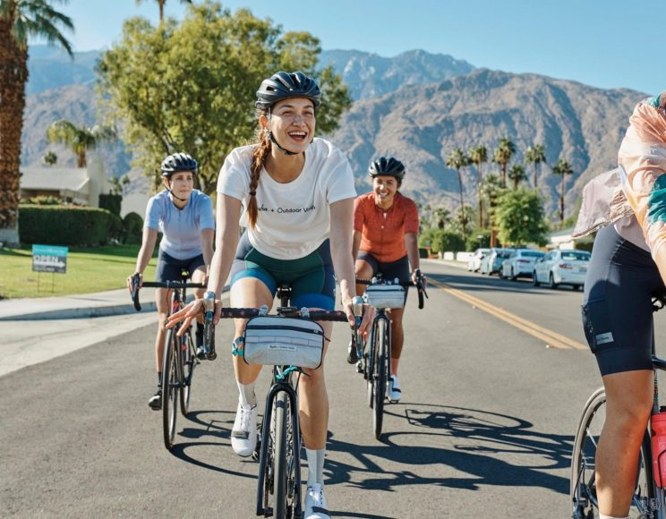 collection femme cycliste rapha + outdoor voices