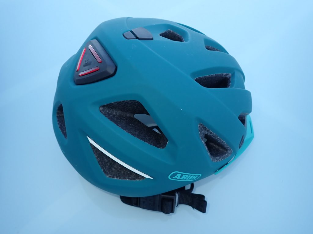casque vélo Abus Urban-I 3.0 coque et bande fluo