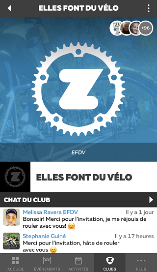 club zwift EFDV chat