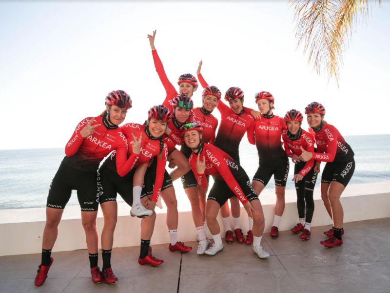 equipes feminines La photo est de Elen Rius / Team Arkéa Pro Cycling
