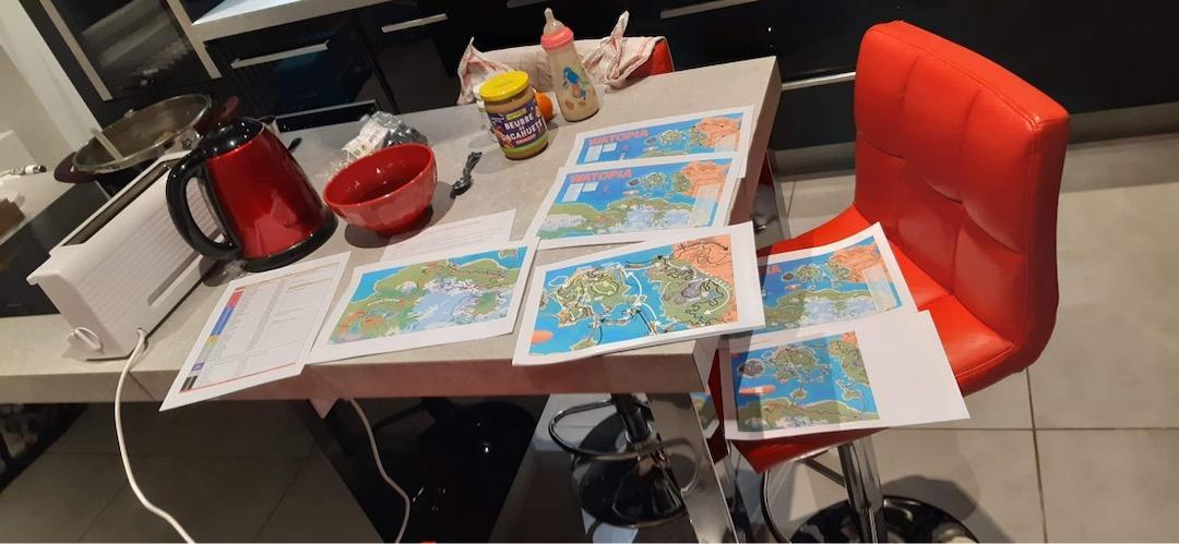 navigation manuelle dans Zwift, les cartes et plans
