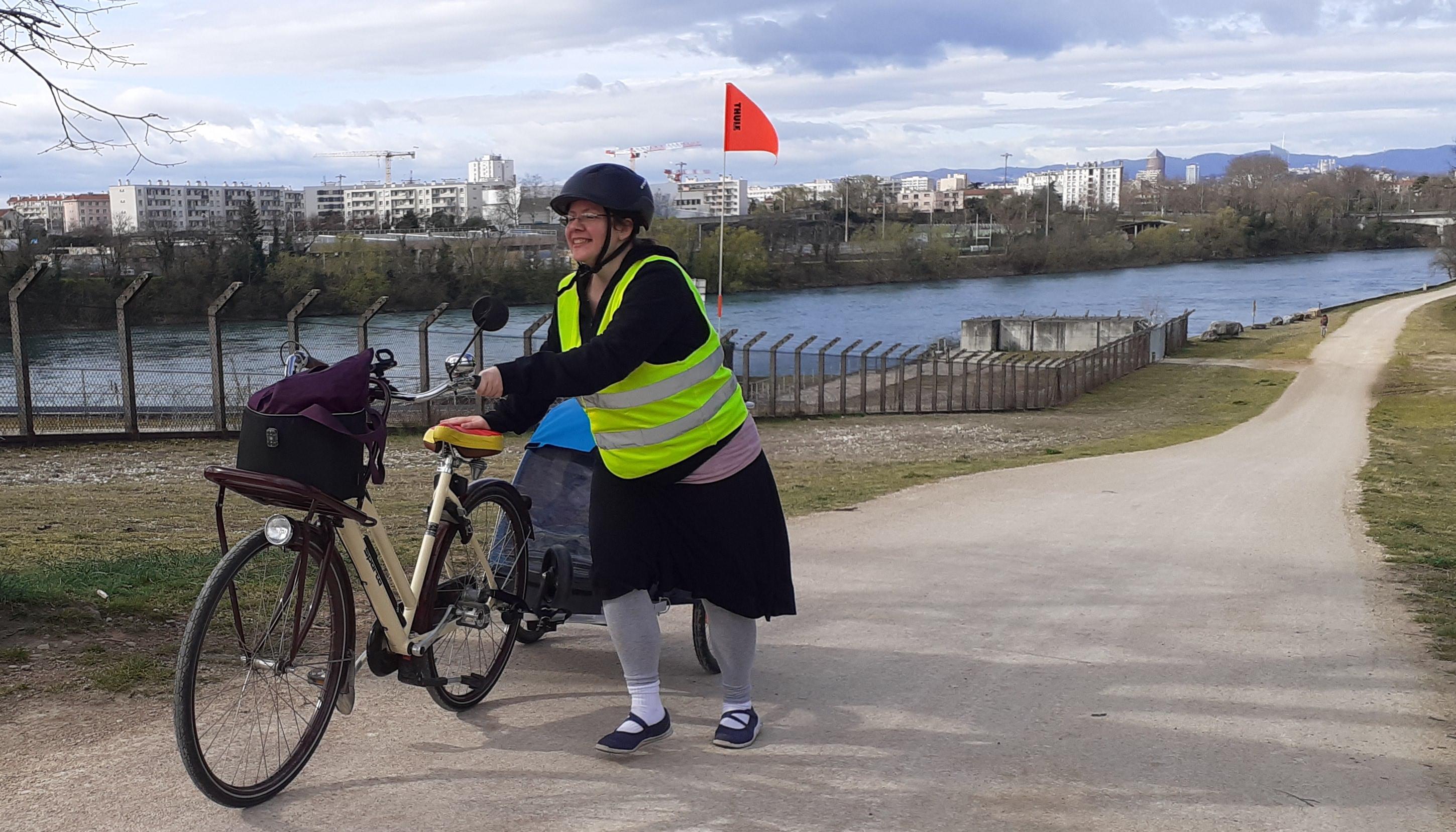 chasse aux trésors à vélo drapeau