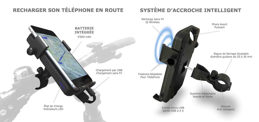 support de téléphone pour vélo Sunslice CYCLOTRON
